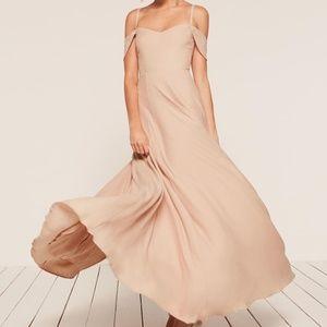 Champagne Reformation Poppy Dress